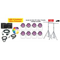 Location Pack LED 8 (avec pied)