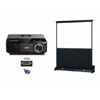 Pack Video-Projecteur + ecran 1.5mx1,5m