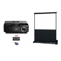 Pack Video-Projecteur + ecran 2m x 2m