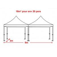 Location Pack 2 Tentes Pliantes 2 x 3m x 3m